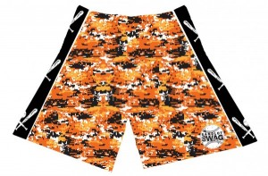 Orioles Orange Digital Camo Shorts
