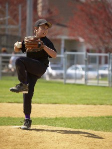 youth baseball young pitcher